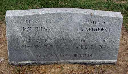 MATTHEWS, BENNY DEAN - East Carroll County, Louisiana | BENNY DEAN MATTHEWS - Louisiana Gravestone Photos