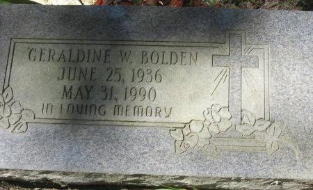 BOLDEN, GERALDINE W - East Feliciana County, Louisiana | GERALDINE W BOLDEN - Louisiana Gravestone Photos