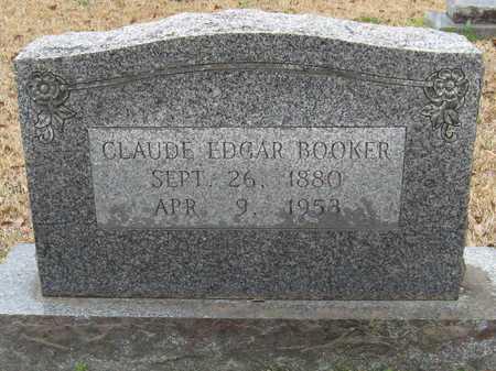 BOOKER, CLAUDE EDGAR - East Feliciana County, Louisiana   CLAUDE EDGAR BOOKER - Louisiana Gravestone Photos