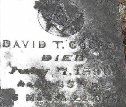 COOPER, DAVID T (CLOSEUP) - East Feliciana County, Louisiana | DAVID T (CLOSEUP) COOPER - Louisiana Gravestone Photos