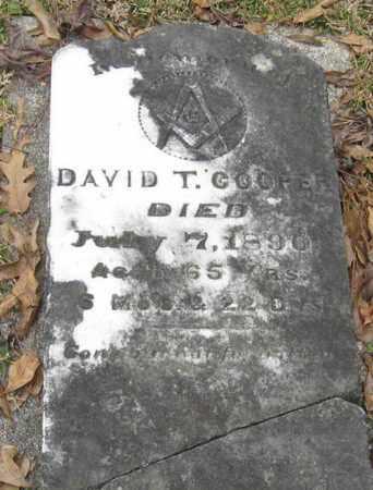 COOPER, DAVID T - East Feliciana County, Louisiana | DAVID T COOPER - Louisiana Gravestone Photos