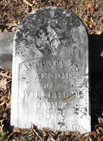 GAYLE, AUGUSTA A - East Feliciana County, Louisiana | AUGUSTA A GAYLE - Louisiana Gravestone Photos