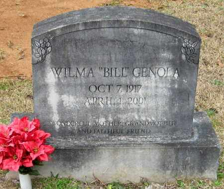 "SMITH GENOLA, WILMA ""BIL"" - East Feliciana County, Louisiana | WILMA ""BIL"" SMITH GENOLA - Louisiana Gravestone Photos"