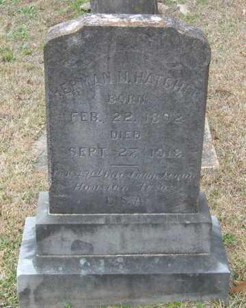 HATCHER, HERMAN N (VETERAN WWI) - East Feliciana County, Louisiana | HERMAN N (VETERAN WWI) HATCHER - Louisiana Gravestone Photos
