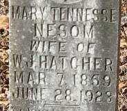 NESOM HATCHER, MARY TENNESSEE (CLOSEUP) - East Feliciana County, Louisiana   MARY TENNESSEE (CLOSEUP) NESOM HATCHER - Louisiana Gravestone Photos