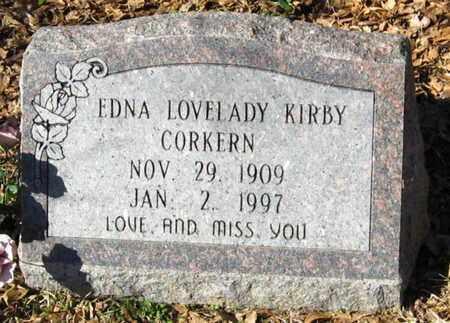 LOVELADY KIRBY, EDNA - East Feliciana County, Louisiana | EDNA LOVELADY KIRBY - Louisiana Gravestone Photos