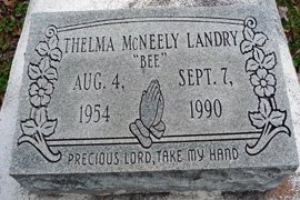 "MCNEELY LANDRY, THELMA  ""BEE"" - East Feliciana County, Louisiana 