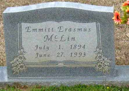MCLIN, EMMITT ERASMUS (CLOSEUP) - East Feliciana County, Louisiana   EMMITT ERASMUS (CLOSEUP) MCLIN - Louisiana Gravestone Photos