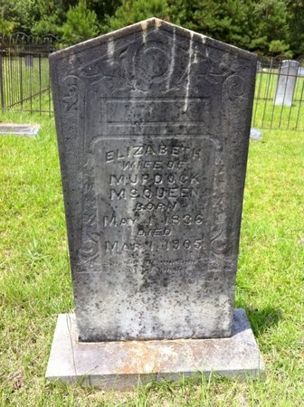 RICHARDSON MCQUEEN, ELIZABETH - East Feliciana County, Louisiana | ELIZABETH RICHARDSON MCQUEEN - Louisiana Gravestone Photos