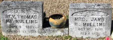 MULLINS, JANIE H, MRS - East Feliciana County, Louisiana   JANIE H, MRS MULLINS - Louisiana Gravestone Photos
