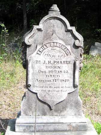 BARFIELD PHARES, EMILY - East Feliciana County, Louisiana | EMILY BARFIELD PHARES - Louisiana Gravestone Photos