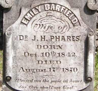 BARFIELD PHARES, EMILY (CLOSEUP) - East Feliciana County, Louisiana | EMILY (CLOSEUP) BARFIELD PHARES - Louisiana Gravestone Photos