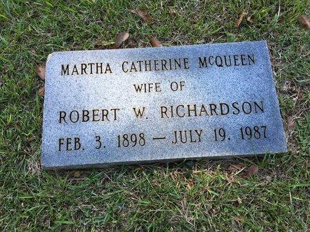 RICHARDSON, MARTHA CATHERINE - East Feliciana County, Louisiana | MARTHA CATHERINE RICHARDSON - Louisiana Gravestone Photos