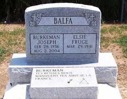 BALFA, BURKEMAN JOSEPH - Evangeline County, Louisiana | BURKEMAN JOSEPH BALFA - Louisiana Gravestone Photos