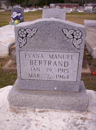 BERTRAND, EVANA - Evangeline County, Louisiana | EVANA BERTRAND - Louisiana Gravestone Photos