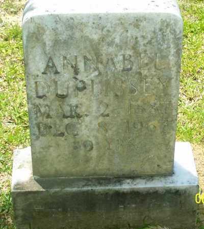 DUPLISSEY, ANNABEL - Evangeline County, Louisiana | ANNABEL DUPLISSEY - Louisiana Gravestone Photos