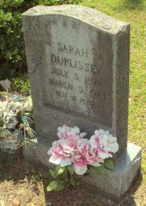 HENRY DUPLISSEY, SARAH MELINDA - Evangeline County, Louisiana | SARAH MELINDA HENRY DUPLISSEY - Louisiana Gravestone Photos