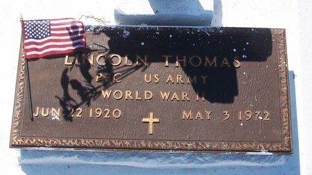 THOMAS, LINCOLN  (VETERAN WWII) - Evangeline County, Louisiana   LINCOLN  (VETERAN WWII) THOMAS - Louisiana Gravestone Photos
