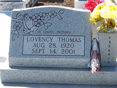 THOMAS, LOVENCY - Evangeline County, Louisiana   LOVENCY THOMAS - Louisiana Gravestone Photos