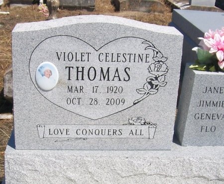 THOMAS, VIOLET - Evangeline County, Louisiana | VIOLET THOMAS - Louisiana Gravestone Photos