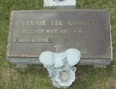 GUNTER, VERNIE LEE - Evangeline County, Louisiana | VERNIE LEE GUNTER - Louisiana Gravestone Photos