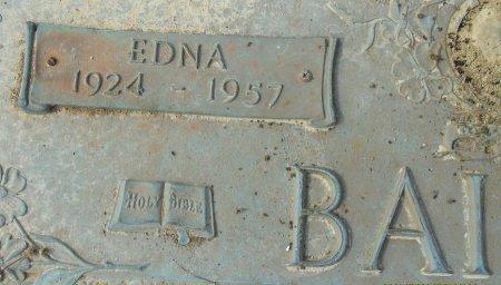 BAILEY, EDNA (CLOSE UP) - Franklin County, Louisiana | EDNA (CLOSE UP) BAILEY - Louisiana Gravestone Photos