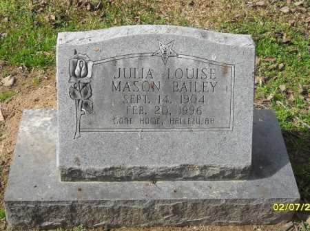 MASON BAILEY, JULIA LOUISE - Franklin County, Louisiana | JULIA LOUISE MASON BAILEY - Louisiana Gravestone Photos