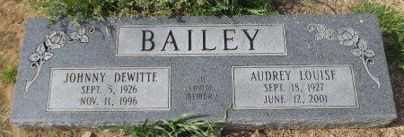 BAILEY, JOHNNY DEWITTE - Franklin County, Louisiana | JOHNNY DEWITTE BAILEY - Louisiana Gravestone Photos
