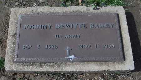 BAILEY  , JOHNNY DEWITTE  (VETERAN) - Franklin County, Louisiana   JOHNNY DEWITTE  (VETERAN) BAILEY   - Louisiana Gravestone Photos