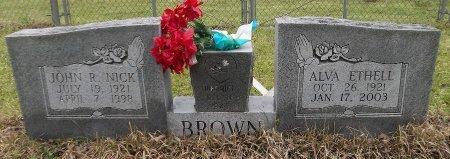 "BROWN, JOHN R ""NICK"" - Franklin County, Louisiana | JOHN R ""NICK"" BROWN - Louisiana Gravestone Photos"