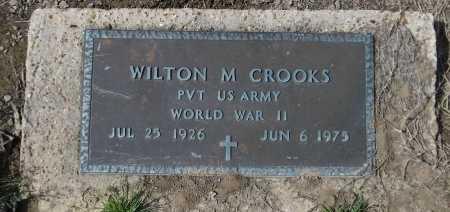 CROOKS  , WILTON M  (VETERAN WWII) - Franklin County, Louisiana | WILTON M  (VETERAN WWII) CROOKS   - Louisiana Gravestone Photos