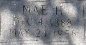 DAY, MAE H (CLOSE UP) - Franklin County, Louisiana | MAE H (CLOSE UP) DAY - Louisiana Gravestone Photos