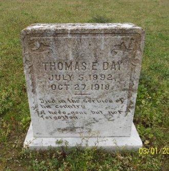 DAY, THOMAS E - Franklin County, Louisiana   THOMAS E DAY - Louisiana Gravestone Photos