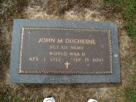 DUCHESNE  , JOHN M  (VETERAN WWII) - Franklin County, Louisiana | JOHN M  (VETERAN WWII) DUCHESNE   - Louisiana Gravestone Photos