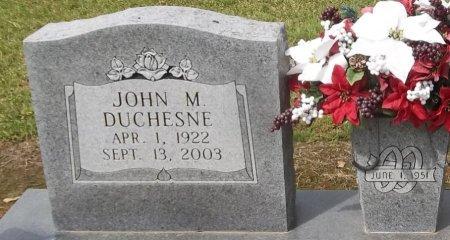 DUCHESNE, JOHN M (CLOSE UP) - Franklin County, Louisiana | JOHN M (CLOSE UP) DUCHESNE - Louisiana Gravestone Photos