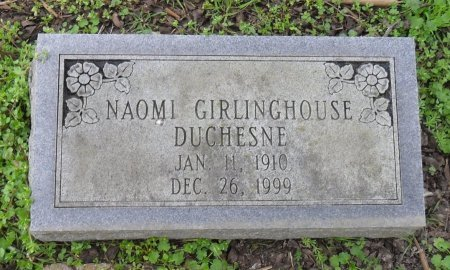 DUCHESNE, NAOMI - Franklin County, Louisiana   NAOMI DUCHESNE - Louisiana Gravestone Photos