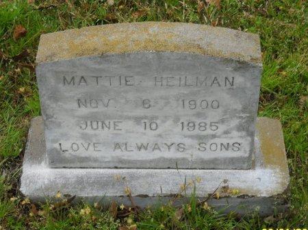 HEILMAN, MATTIE - Franklin County, Louisiana | MATTIE HEILMAN - Louisiana Gravestone Photos