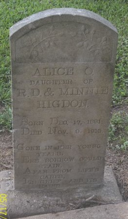 HIGDON, ALICE O - Franklin County, Louisiana | ALICE O HIGDON - Louisiana Gravestone Photos