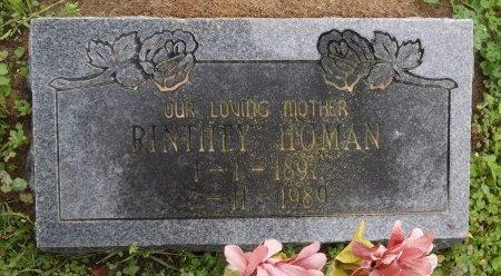 HOMAN, RINTHRY - Franklin County, Louisiana   RINTHRY HOMAN - Louisiana Gravestone Photos
