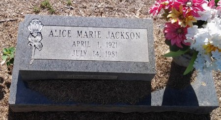 JACKSON, ALICE MARIE - Franklin County, Louisiana   ALICE MARIE JACKSON - Louisiana Gravestone Photos