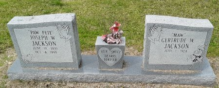 "JACKSON, JOSEPH W ""PAW PETE"" - Franklin County, Louisiana   JOSEPH W ""PAW PETE"" JACKSON - Louisiana Gravestone Photos"