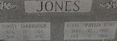 JONES, DEWITT YARBROUGH (CLOSE UP) - Franklin County, Louisiana   DEWITT YARBROUGH (CLOSE UP) JONES - Louisiana Gravestone Photos