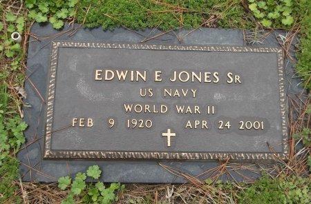 JONES  , EDWIN E, SR. (VETERAN WWII) - Franklin County, Louisiana   EDWIN E, SR. (VETERAN WWII) JONES   - Louisiana Gravestone Photos