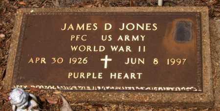 JONES  , JAMES D (VETERAN WWII) - Franklin County, Louisiana | JAMES D (VETERAN WWII) JONES   - Louisiana Gravestone Photos