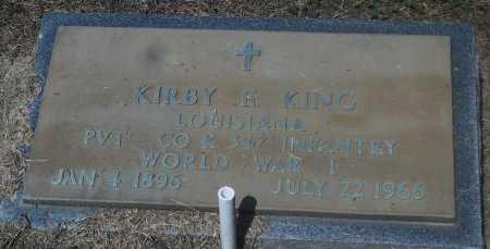 KING  , KIRBY E (VETERAN WWI) - Franklin County, Louisiana | KIRBY E (VETERAN WWI) KING   - Louisiana Gravestone Photos
