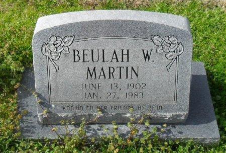 "MARTIN, BEULAH W ""BEBE"" - Franklin County, Louisiana | BEULAH W ""BEBE"" MARTIN - Louisiana Gravestone Photos"