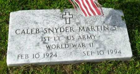 MARTIN , CALEB SNYDER, SR.  (VETERAN  WWII) - Franklin County, Louisiana   CALEB SNYDER, SR.  (VETERAN  WWII) MARTIN  - Louisiana Gravestone Photos