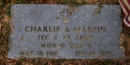 MARTIN  , CHARLIE A   (VETERAN WWII) - Franklin County, Louisiana | CHARLIE A   (VETERAN WWII) MARTIN   - Louisiana Gravestone Photos