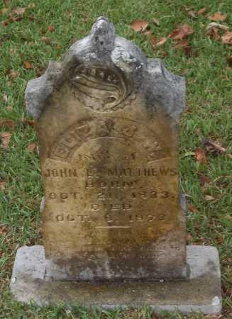 MATTHEWS, ELIZA J W - Franklin County, Louisiana | ELIZA J W MATTHEWS - Louisiana Gravestone Photos