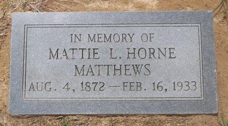 MATTHEWS, MATTIE L - Franklin County, Louisiana   MATTIE L MATTHEWS - Louisiana Gravestone Photos